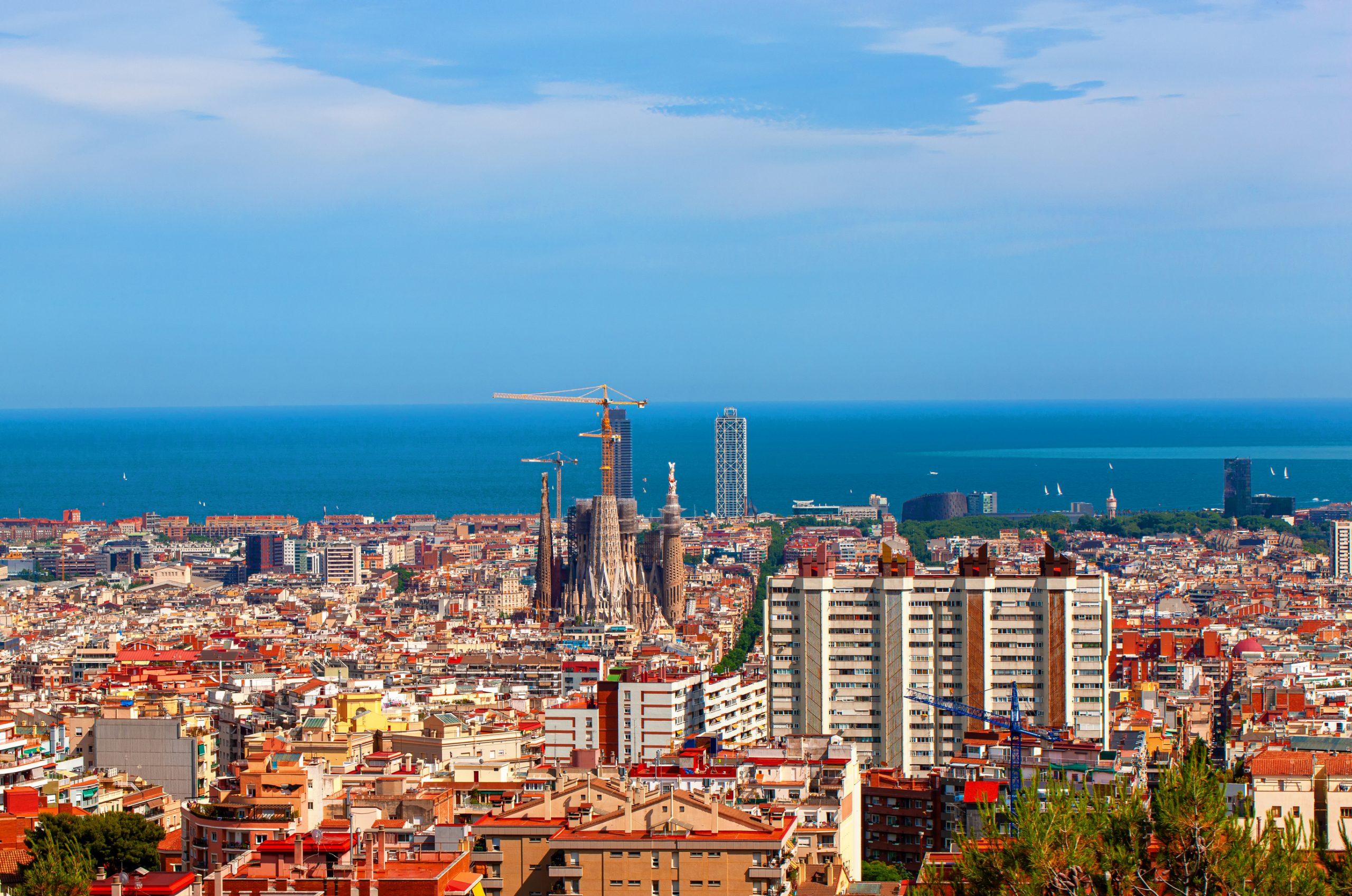 View of Barcelona city skyline