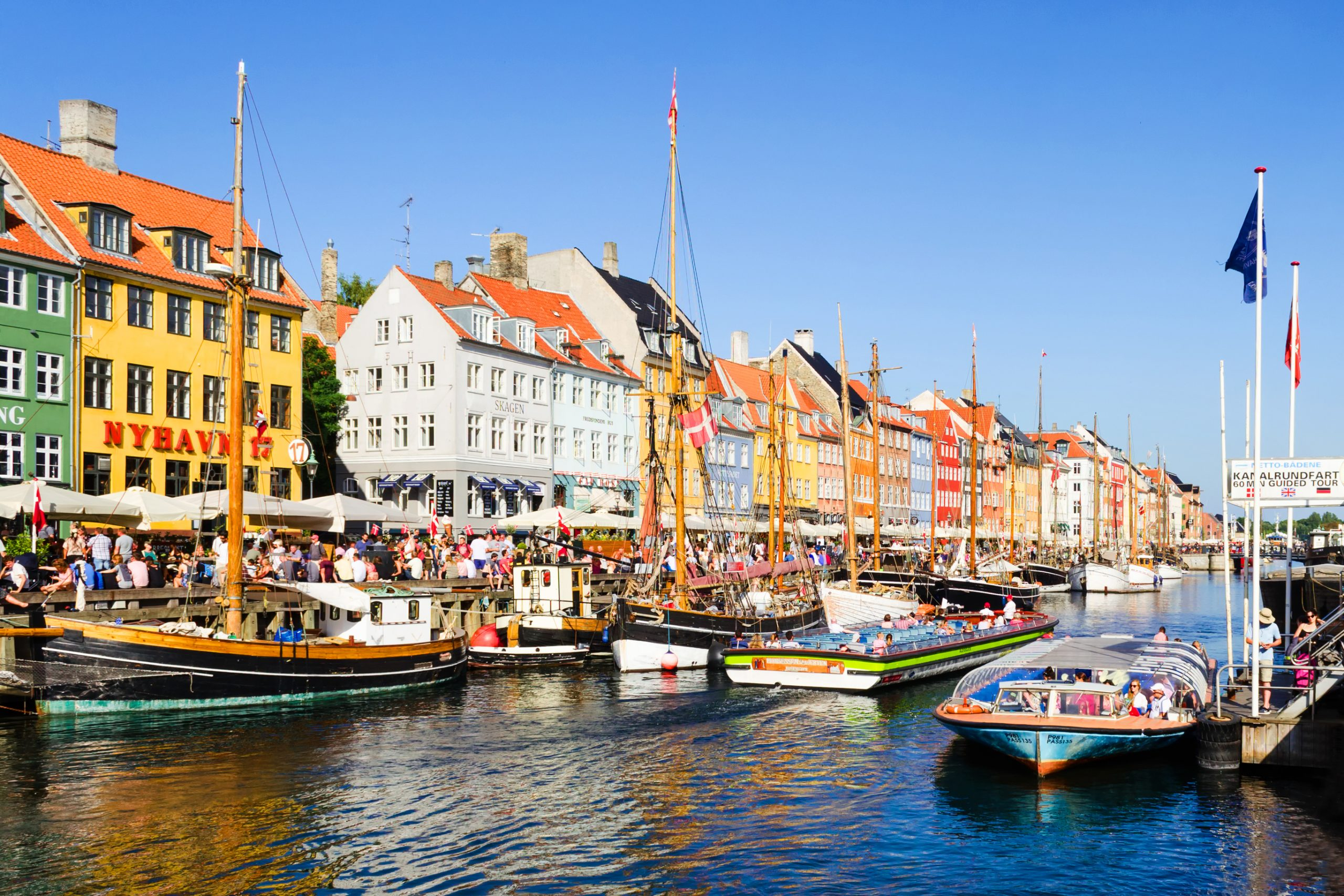 Beautiful colorful houses in Copenhagen
