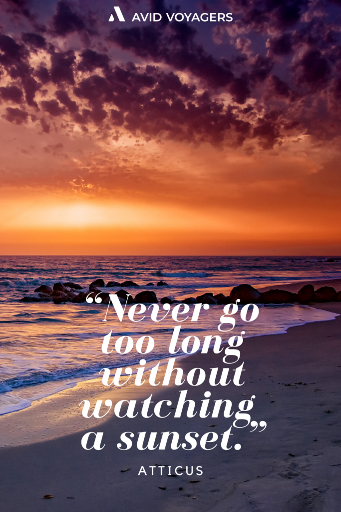 Never go too long without watching a sunset. Atticus