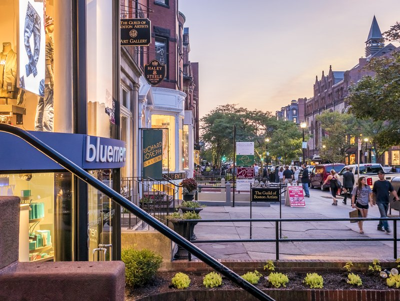 Walk through Newbury Street