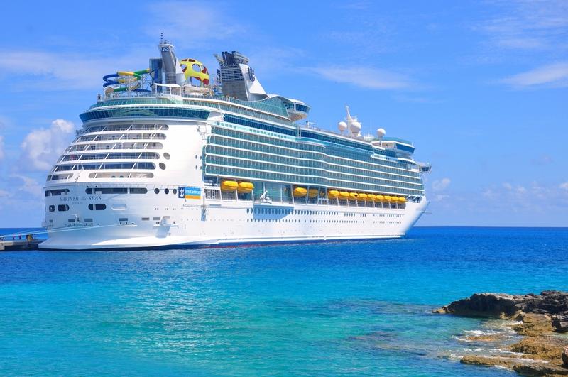 Royal Caribbean International cruise ship docked in Boston.